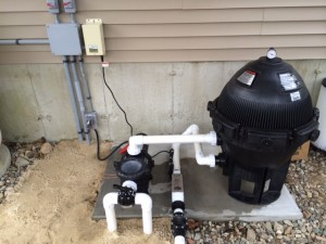 Swimming pool pump filter installations inground pool for Inground pool pump and filter systems