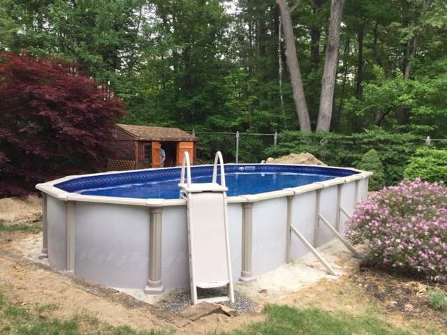 Above Ground Pool Installed in New Hampshire