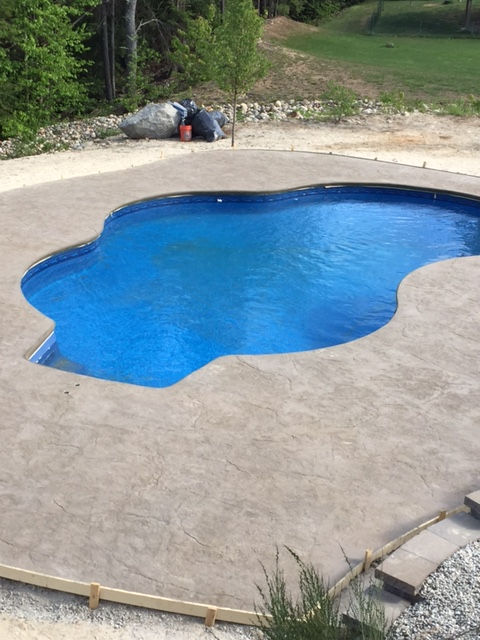 Inground Pool Patio Installation in NH